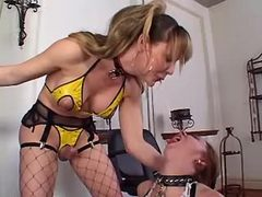 Fetish shemale fucks submissive gal