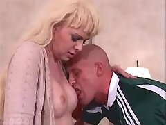 Mature shemale sucking cock of guy