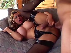 Sexy busty shemale screwed n jizzed