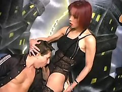 Secretary shemale spoils young boss