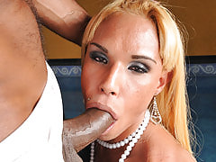 Slender tranny nympho nailed and then covered in hot cum, Glazed Trannys